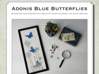 Cross Stitch and Blackwork Design: Adonis Blue Butterflies