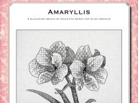 Blackwork Design: Amaryllis