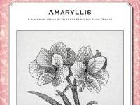 Blackwork Design: Amaryllis