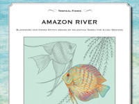 Cross Stitch and Blackwork Design: Amazon River