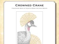 Blackwork Design: Crowned Crane