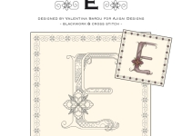 Blackwork & Cross Stitch Designs: Floral Alphabet – E