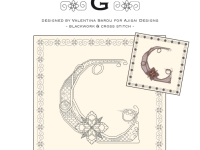 Blackwork & Cross Stitch Designs: Floral Alphabet – G