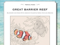 Cross Stitch and Blackwork Design: Great Barrier Reef