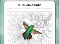 Blackwork and Cross Stitch Design: Hummingbird