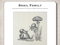 Blackwork Design: Snail Family
