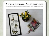 Cross Stitch and Blackwork Design: Swallowtail Butterflies