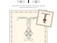 Blackwork & Cross Stitch Designs: Floral Alphabet – T