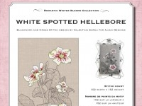 Cross Stitch and Blackwork Design: White Spotted Hellebore
