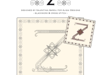 Blackwork & Cross Stitch Designs: Floral Alphabet – Z