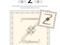 Blackwork & Cross Stitch Designs: Floral Alphabet – Z