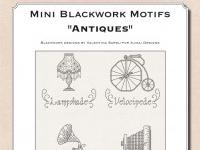Mini Blackwork Motifs: Antiques