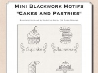 Mini Blackwork Motifs: Cakes and Pastries