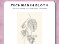 Blackwork Design: Fuchsias in bloom