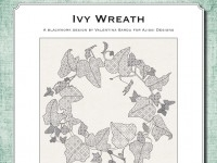 Blackwork Design: Ivy Wreath