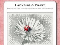 Blackwork and Cross Stitch Design: Ladybug & Daisy