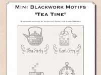 Mini Blackwork Motifs: Tea Time