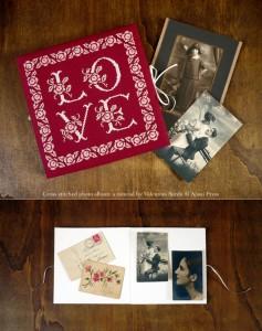 DIY Tutorial & Freebie: cross stitched photo album