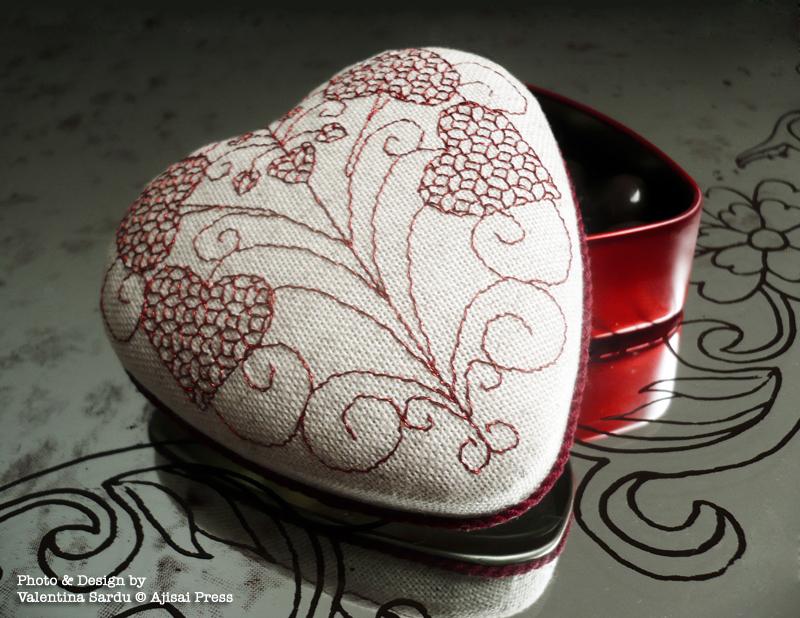 heart-shaped blackwork box - 1