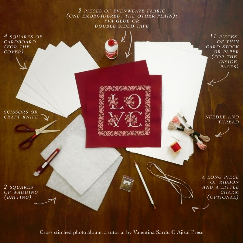 cross stitched photo album - 2