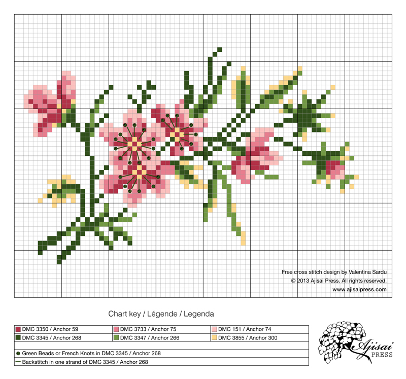 Free Cross Stitch Pattern By Ajisai Press Ajisai Press Simple Cross Stitch Free Patterns