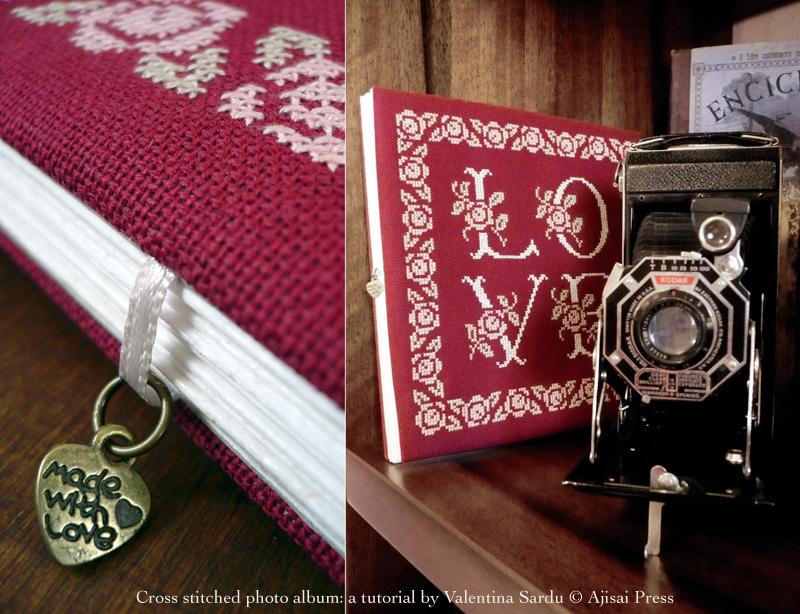 cross stitched photo album - 9