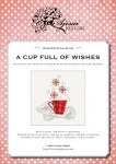 Cross Stitch and Blackwork Design: A cup full of wishes
