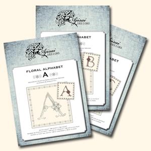 Floral Alphabet - Ajisai Designs
