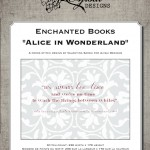 Cross Stitch Designs: Enchanted Books – Alice in Wonderland