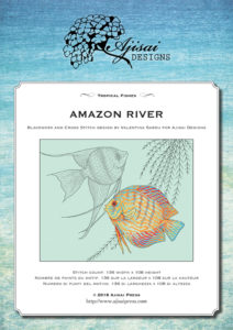 Blackwork and Cross Stitch Design: Amazon River