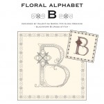 Blackwork & Cross Stitch Designs: Floral Alphabet – B