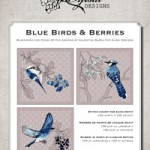 Cross Stitch and Blackwork Designs: Blue Birds & Berries