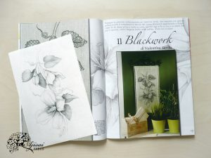 Blackwork Clematis on RicAmare magazine