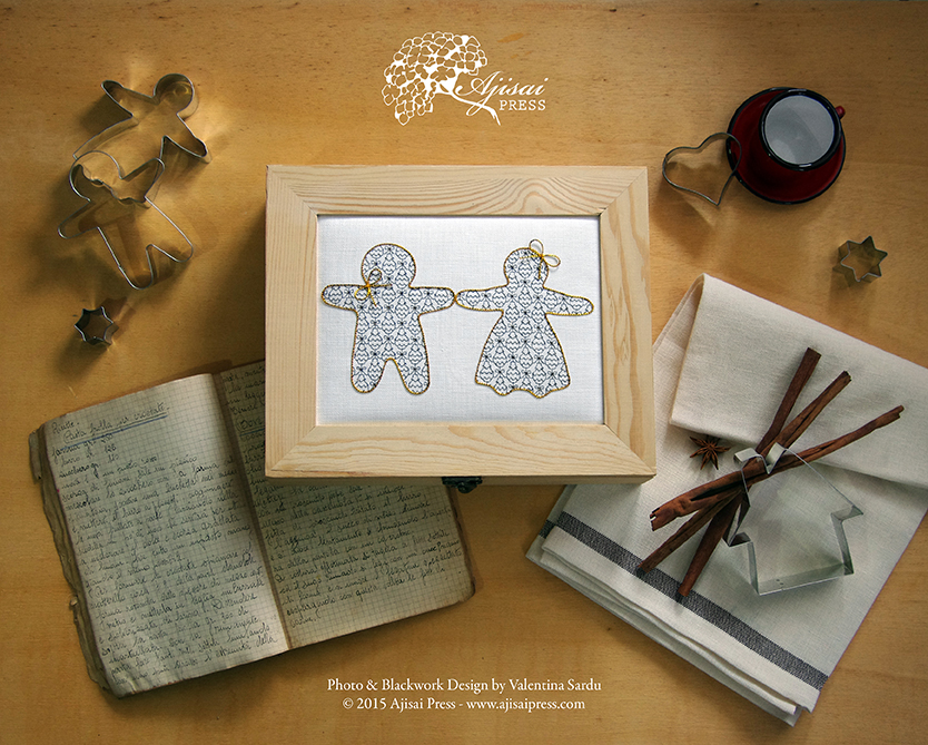 Blackwork Gingerbread Cookies - Ajisai Press