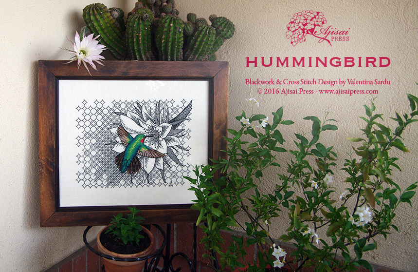 Blackwork Hummingbird Ajisai Press