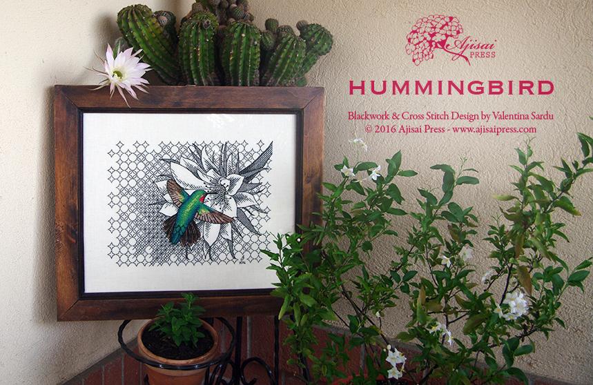 Blackwork Hummingbird Ajisai Press