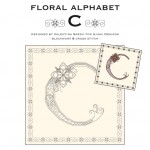 Blackwork & Cross Stitch Designs: Floral Alphabet – C