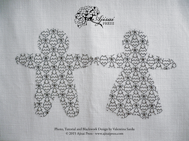 How to create a blackwork embroidery using cookie cutters