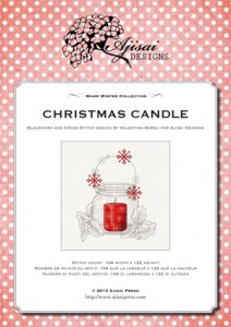 Cross Stitch and Blackwork Design: Christmas candle