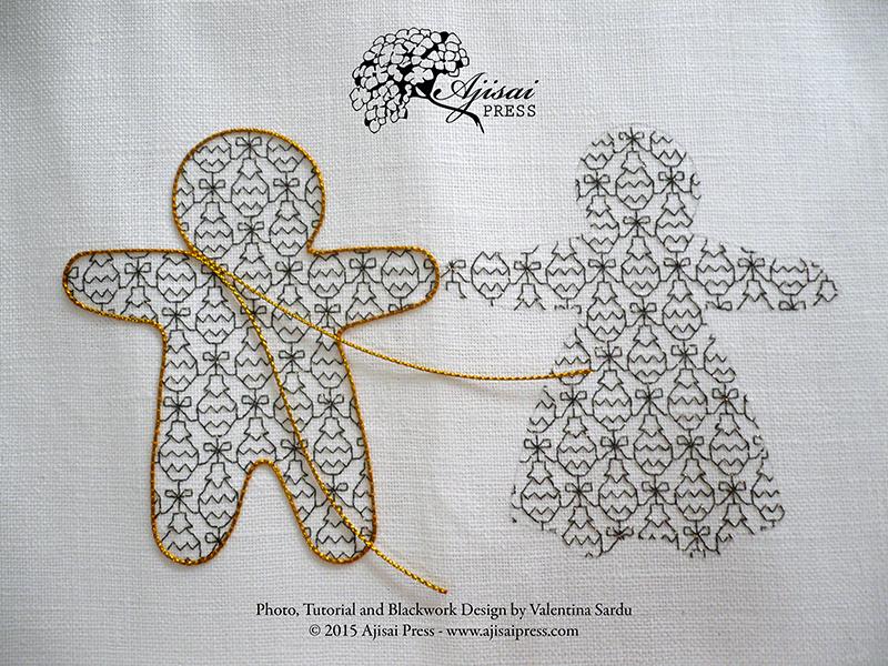 Couching - blackwork and goldwork - Ajisai Press
