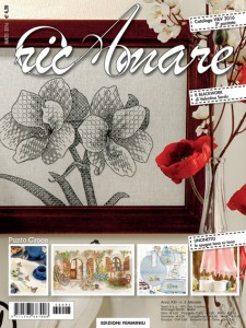Valentina Sardu's blackwork embroidery on the cover of RicAmare magazine
