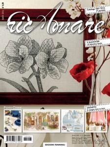 Valentina Sardu's blackwork embroidery on the cover of RicAmare magazine
