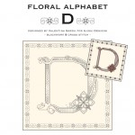 Blackwork & Cross Stitch Designs: Floral Alphabet – D