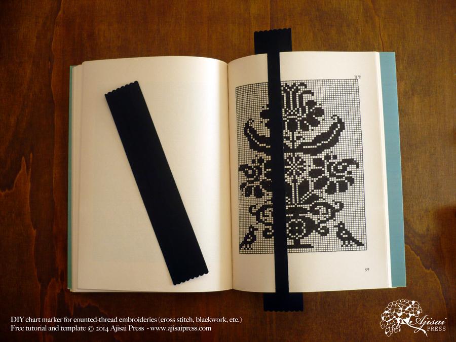 DIY chart marker for cross stitch patterns - Ajisai Press