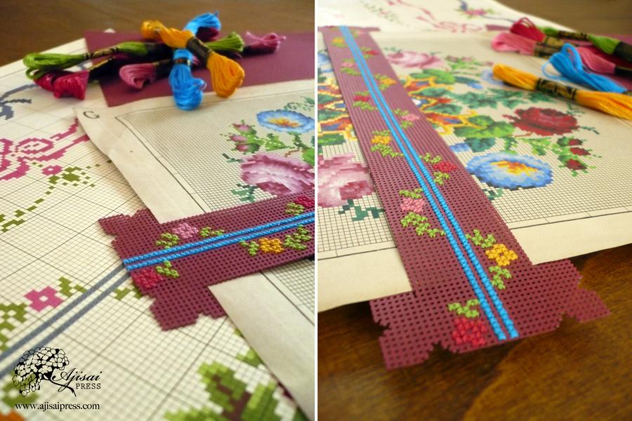 cross-stitched chart marker - Ajisai Press7