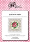 Blackwork and Cross Stitch Design: Vintage Rose