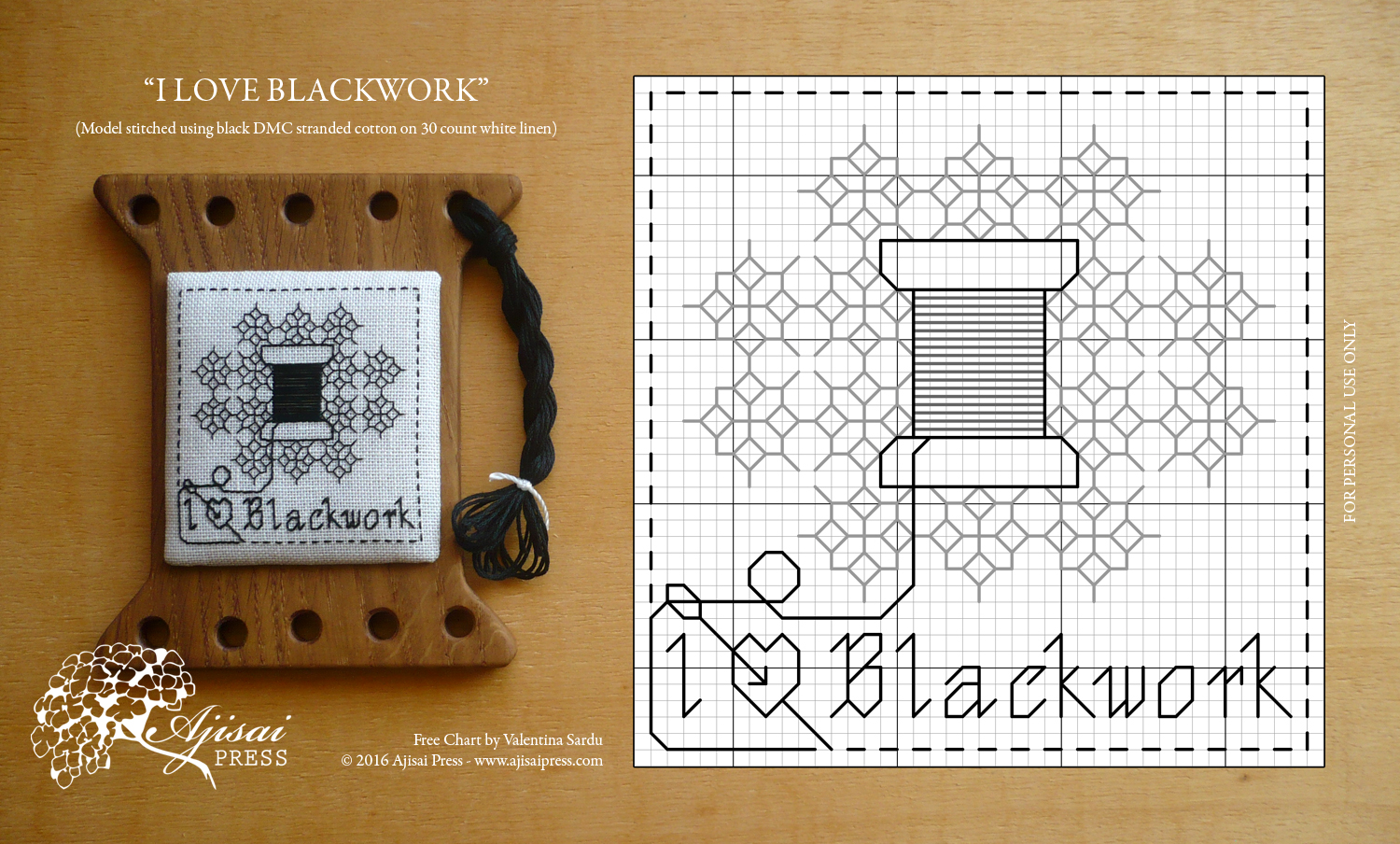 FREE blackwork AjisaiPress