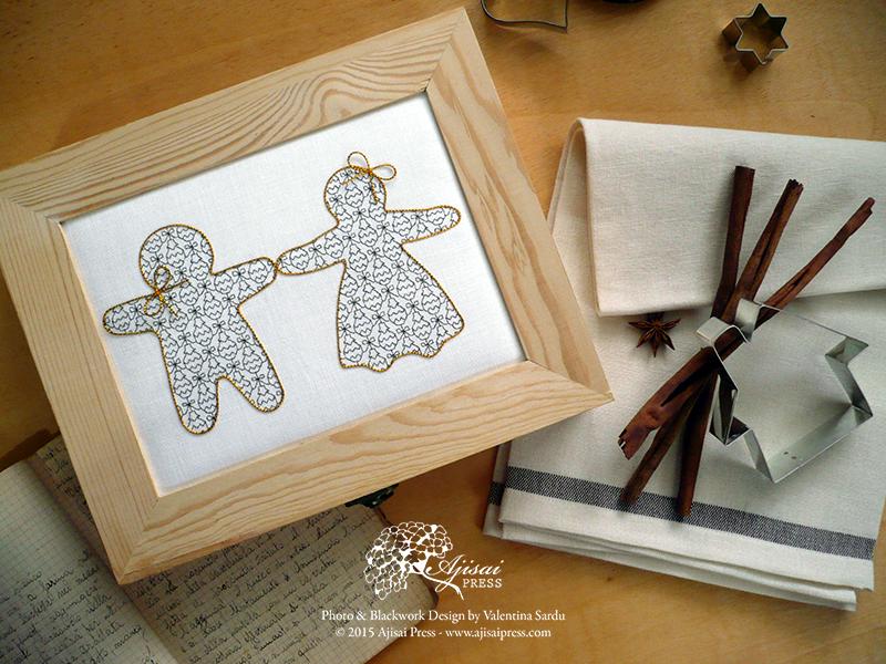 FREE blackwork embroidery for Christmas - Ajisai Press