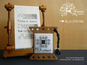 I LOVE BLACKWORK – A free chart for blackwork lovers