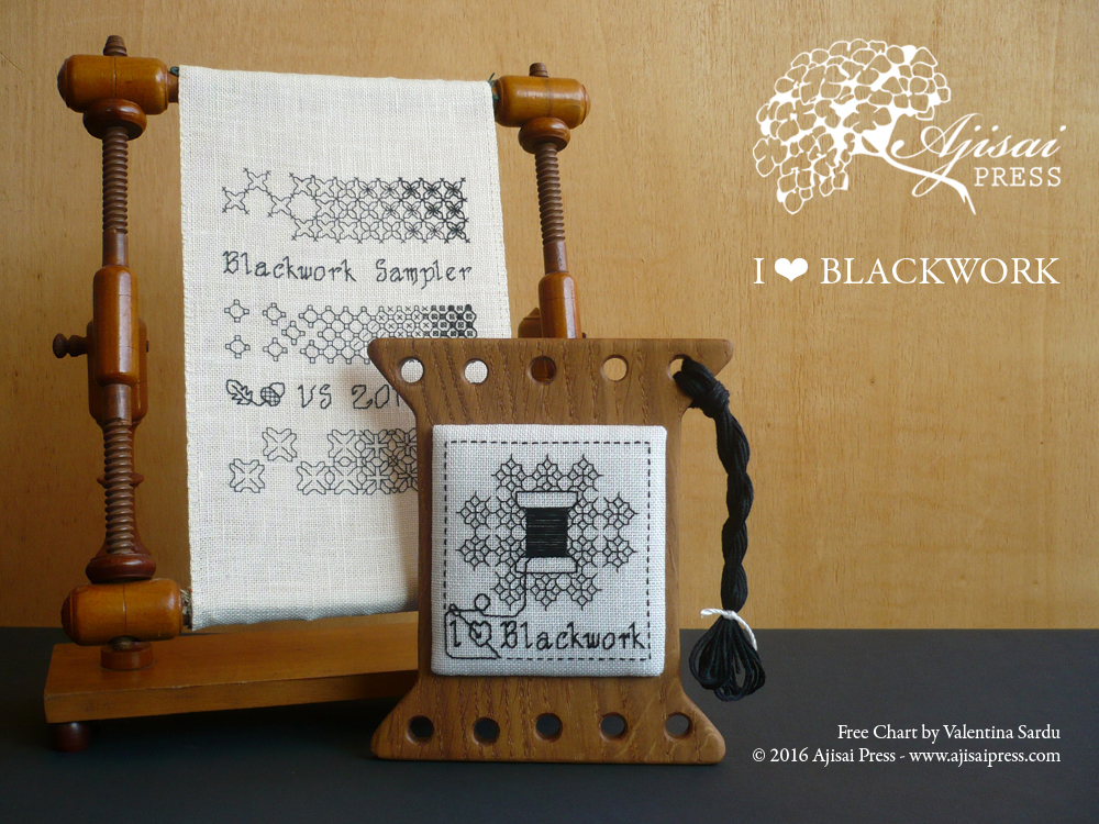 Free Blackwork Chart Ajisai Press